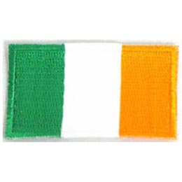 Ireland, Flag, Patch, Embroidered Patch, Merit Badge, Iron On, Iron-On, Crest, Girl Scouts