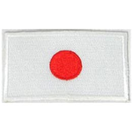 Japan, Tokyo, Flag, Patch, Embroidered Patch, Merit Badge, Iron On, Iron-On, Crest, Girl Scouts