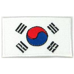 South Korea, Korea, Flag, Patch, Embroidered Patch, Merit Badge, Iron On, Iron-On, Crest, Girl Scouts
