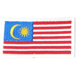 Malaysia, Kuala Lumpur, Flag, Country, Patch, Embroidered Patch, Merit Badge, Iron On, Iron-On, Crest, Girl Scouts