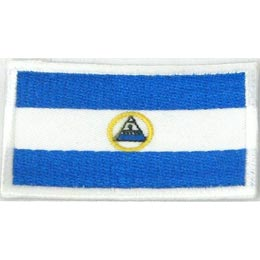Nicaragua, Managua, Flag, Patch, Embroidered Patch, Merit Badge, Iron On, Iron-On, Crest, Girl Scouts