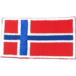 Norway, Oslo, Flag, Patch, Embroidered Patch, Merit Badge, Iron On, Iron-On, Crest, Girl Scouts