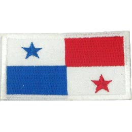 Panama, Panama City, Flag, Patch, Embroidered Patch, Merit Badge, Iron On, Iron-On, Crest, Girl Scouts