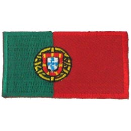 Portugal, Lisbon, Flag, Country, Patch, Embroidered Patch, Merit Badge, Iron On, Iron-On, Crest, Girl Scouts