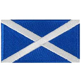 Scotland, Edinburgh, Glasgow, Flag, Patch, Embroidered Patch, Merit Badge, Iron On, Iron-On, Crest, Girl Scouts