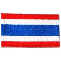Thailand, Bangkok, Flag, Country, Patch, Embroidered Patch, Merit Badge, Iron On, Iron-On, Crest, Girl Scouts