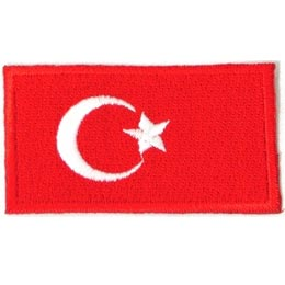 Turkey, Ankara, Flag, Country, Patch, Embroidered Patch, Merit Badge, Iron On, Iron-On, Crest, Girl Scouts