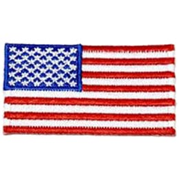 United States, US, USA, State, Flag, Patch, Embroidered Patch, Merit Badge, Iron On, Iron-On, Crest, Girl Scouts