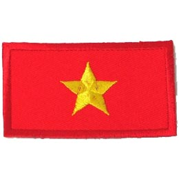 Viet Nam, Hanoi, Flag, Country, Patch, Embroidered Patch, Merit Badge, Iron On, Iron-On, Crest, Girl Scouts