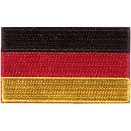 The flag of Germany is broken up into three even horizontal bars: the top being black in colour, the middle is red, and the bottom is yellow.
