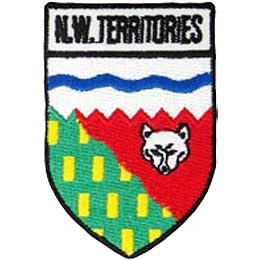 Northwest Territories, Yellowknife, Territory, Arctic, Inuit, Province, Provincial, Canada, Shield, Patch, Embroidered Patch, Merit Badge, Iron On, Ir