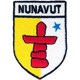 Nunavut, Iqaluit, Territory, Arctic, Inuit, Province, Provincial, Canada, Shield, Patch, Embroidered Patch, Merit Badge, Iron On, Iron-On, Crest,