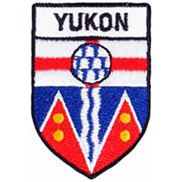 Yukon, Whitehorse, Gold Rush, Territory, Arctic, Province, Provincial, Canada, Shield, Patch, Embroidered Patch, Merit Badge, Iron On, Iron-On, Crest,