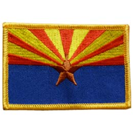 Arizona, Phoenix, Flag, USA, United States, Patch, Embroidered Patch, Merit Badge, Iron On, Iron-On, Crest, Girl Scouts