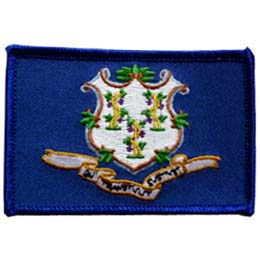 Connecticut, Hartford, Flag, USA, United States, Patch, Embroidered Patch, Merit Badge, Iron On, Iron-On, Crest, Girl Scouts