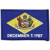 Delaware, Dover, Flag, USA, United States, Patch, Embroidered Patch, Merit Badge, Iron On, Iron-On, Crest, Girl Scouts