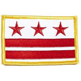 District of Columbia, D.C., DC, Washington, Flag, USA, United States, Patch, Embroidered Patch, Merit Badge, Iron On, Iron-On, Crest, Girl Scouts