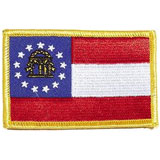 Georgia, Atlanta, Flag, USA, United States, Patch, Embroidered Patch, Merit Badge, Iron On, Iron-On, Crest, Girl Scouts
