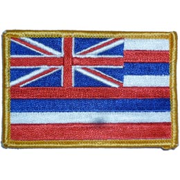 Hawaii, Honolulu, State, Flag, Patch, Embroidered Patch, Merit Badge, Iron On, Iron-On, Crest, Girl Scouts