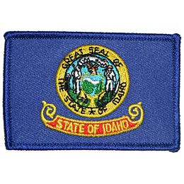 Boise, Idaho, Flag, USA, United States, Patch, Embroidered Patch, Merit Badge, Iron On, Iron-On, Crest, Girl Scouts