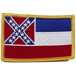 Mississippi, Jackson, Flag, USA, United States, Patch, Embroidered Patch, Merit Badge, Iron On, Iron-On, Crest, Girl Scouts