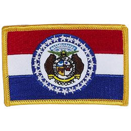 Jefferson City, Missouri, Flag, USA, United States, Patch, Embroidered Patch, Merit Badge, Iron On, Iron-On, Crest, Girl Scouts