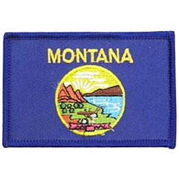 Helena, Montana, Flag, USA, United States, Patch, Embroidered Patch, Merit Badge, Iron On, Iron-On, Crest, Girl Scouts