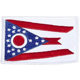 Ohio, Dayton, Columbus, Flag, USA, United States, Patch, Embroidered Patch, Merit Badge, Iron On, Iron-On, Crest, Girl Scouts