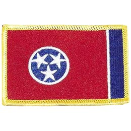 Tennessee, Nashville, Flag, USA, United States, Patch, Embroidered Patch, Merit Badge, Iron On, Iron-On, Crest, Girl Scouts