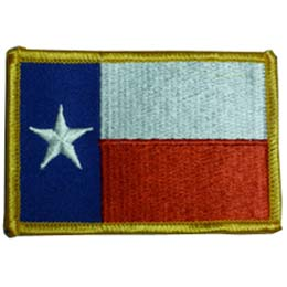 Texas, Austin, State, USA, Flag, Patch, Embroidered Patch, Merit Badge, Badge, Emblem, Iron On, Iron-On, Crest, Lapel Pin, Insignia, Girl Scouts, Boy Scouts, Girl Guides