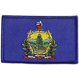 Vermont, Montpelier, Flag, USA, United States, Patch, Embroidered Patch, Merit Badge, Iron On, Iron-On, Crest, Girl Scouts