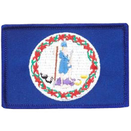 Virginia, Richmond, Flag, USA, United States, Patch, Embroidered Patch, Merit Badge, Iron On, Iron-On, Crest, Girl Scouts