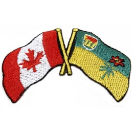 Canada, Saskatchewan, Friendship, Flag, Country, Province, Patch, Embroidered Patch, Merit Badge, Iron On, Iron-On, Crest, Girl Scouts
