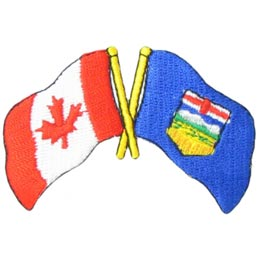 Canada, Alberta, Friendship, Flag, Country, Province, Patch, Embroidered Patch, Merit Badge, Iron On, Iron-On, Crest, Girl Scouts