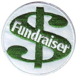Fundraise, Fundraiser, Fundraising, Fund, Raise, Money, Coin, Cash, Dollar, Patch, Embroidered Patch, Merit Badge, Iron On, Iron-On, Crest, Girl Scout