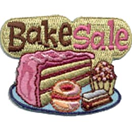 Bake Sale, Cake, Cooking, Baking, Bake, Cookie, Cupcakes, Cup Cake, Patch, Embroidered Patch, Merit Badge, Crest, Girl Scouts, Boy Scouts, Girl Guides