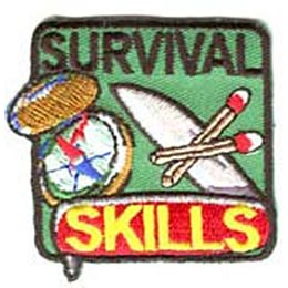 Survival, Skill, Match, Compass, Map, Lost, Found,Patch, Embroidered Patch, Merit Badge, Badge, Emblem, Iron On, Iron-On, Crest, Lapel Pin, Insignia, Girl Scouts, Boy Scouts, Girl Guides