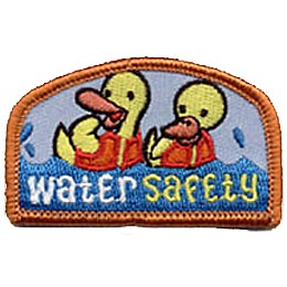 Water Safety, Water, Ducks, Duck, Life Jacket, Jacket, Patch, Embroidered Patch, Merit Badge, Crest, Girl Scouts, Boy Scouts, Girl Guides