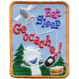 Eat Sleep Geocache! Glow In the Dark (Iron On)