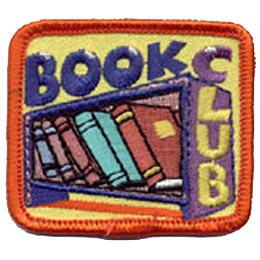 Book, Club, Books, Reading, School, College, University, Education, Patch, Embroidered Patch, Merit Badge, Iron On, Iron-On, Crest, Girl Scouts, Boy S