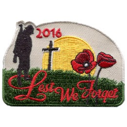 Lest We Forget 2016 (Iron On)