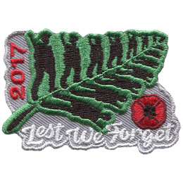 Lest We Forget 2017 (Iron On)