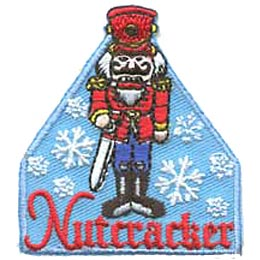Nutcracker, Snow, Snowflake, Christmas, Theater, Theatre, Ballet, Patch, Embroidered Patch, Merit Badge, Iron On, Iron-On, Crest, Girl Scouts, Boy Sco