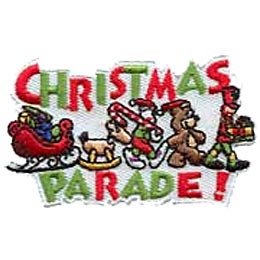 Christmas Parade, Santa, Bear, Reindeer, Candy Cane, Soldier, Holiday, Patch, Embroidered Patch, Merit Badge, Crest, Girl Scouts, Boy Scouts, Girl Gui