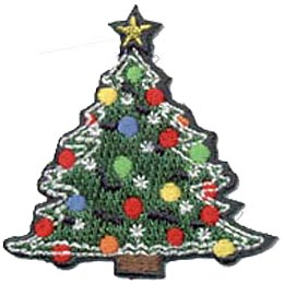This beautiful evergreen tree is decorated with green, yellow, blue, and red Christmas balls. Lights twinkle among the decorations and a yellow star is perched on the top of this Christmas Tree.
