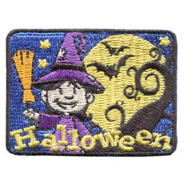 Halloween Witch - Glow in the Dark (Iron On)