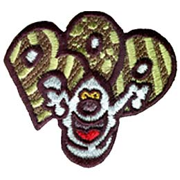 Boo, Ghost, Halloween, Trick, Treat, Patch, Embroidered Patch, Merit Badge, Badge, Emblem, Iron On, Iron-On, Crest, Lapel Pin, Insignia, Girl Scouts,