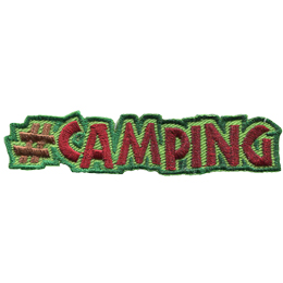 This patch displays a hashtag followed by the word 'Camping' in all capital letters.
