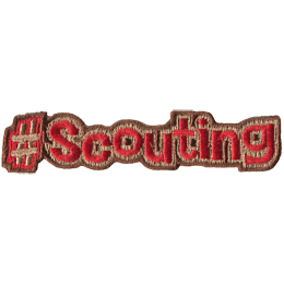 This patch displays a hashtag followed by the word 'Scouting'.