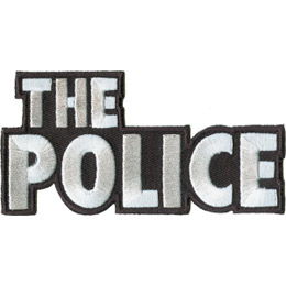 The words \\\'The Police\\\' are in white thread with a black border.